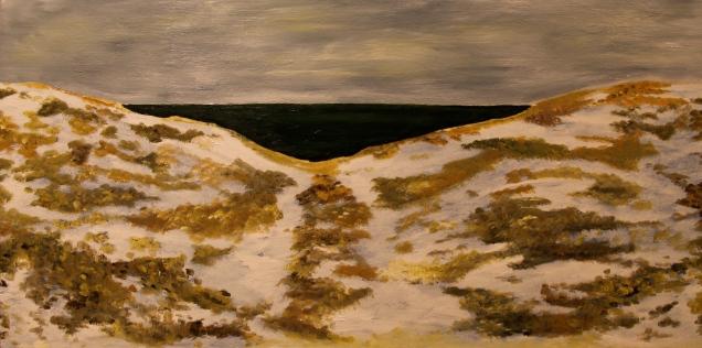 Winter Dunes - Lake Michigan, Oil on Panel