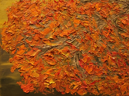 Burnt Orange, 12x16, Oil on Canvas