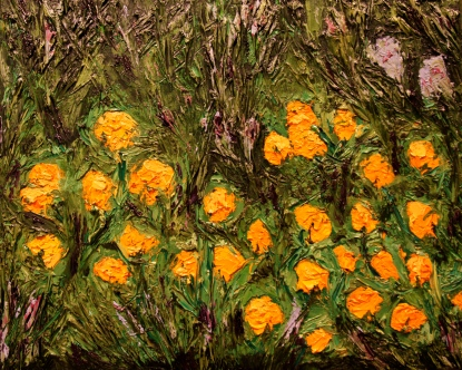 California Poppies, 16x20, Oil on Canvas