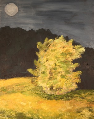 Full Hunters Moon, 16x20, Oil on Canvas