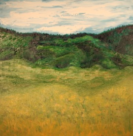 Golden Meadow, 24x24, Oil on Plywood
