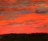 Sunset on the Delmarva, 20x24, oil on Panel
